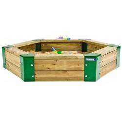 zandbak junior 150 x 110 x 28 cm hout naturel