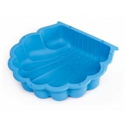 zandbak met afdekhoes schelp 87 x 78 cm blauw