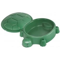 zandbak met deksel schildpad 115 x 83 cm groen